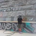 Odstranění graffity pískováním - tryskáním v Brně