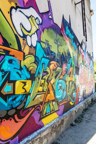 """Vandal nás """"poctil"""" svým graffiti vnákupním centru, A SERVIS vše odstranil, odstraňování graffiti Praha"""